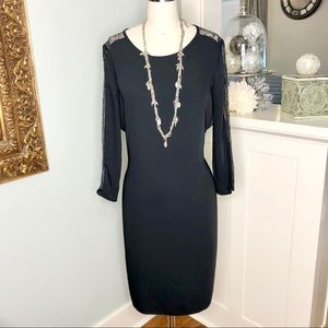 Calvin Klein Black Lace Sheath Dress